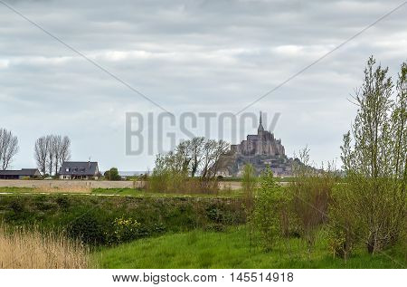 view of Mont Saint-Michel from neighborhood France