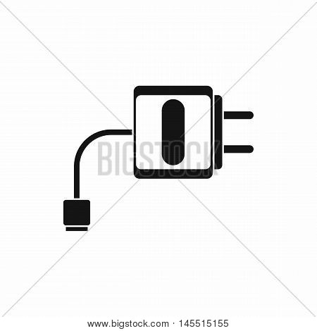 Mini charger icon in simple style isolated on white background. Charging symbol