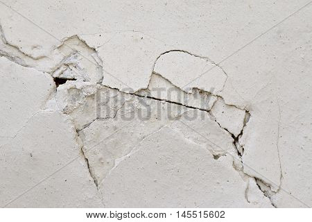 Detail of the cracked wall - grunge texture