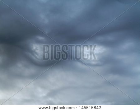 Bizare clouds - bumps on the sky