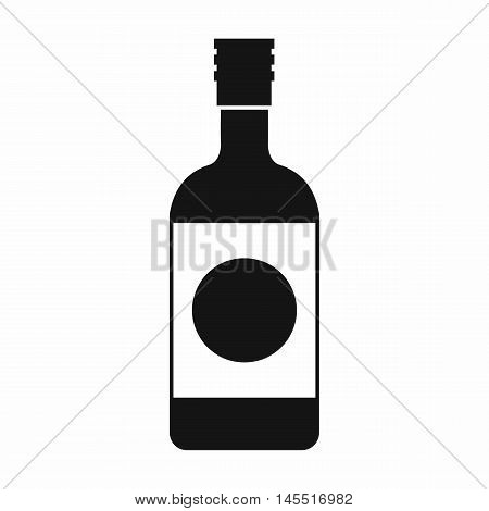 Japanese sake icon in simple style isolated on white background. Drink symbol