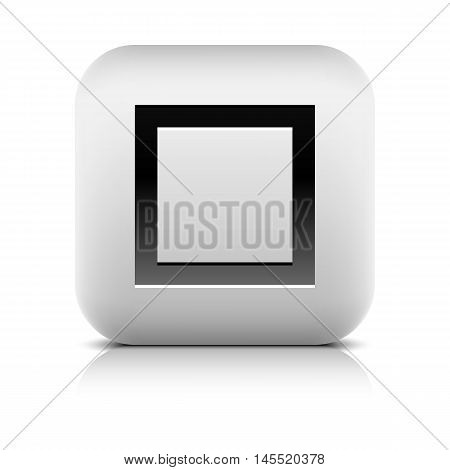 Media Player Icon With Stop Sign