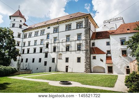 Gothic castle of Jindrichuv Hradec Czech republic. Architectural scene. Travel destination. Beautiful place.