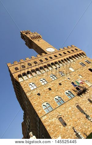 The Palazzo Vecchio in Florence Italy Europe.