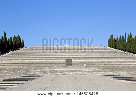 The World War I memorial of Redipuglia is one of the largest monumental military cemetery in the world