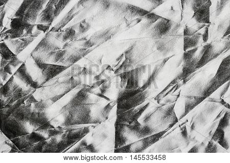 Gray Fabric Crease Background Or Texture And Shadow