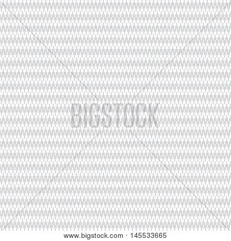 Seamless pattern. Abstract small textured background. Monochrome classic texture with small rhombuses. Regularly repeating geometric ornament with waves zigzags. Web backdrop wrapping paper surface