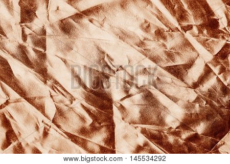 Brown Fabric Crease Background Or Texture And Shadow