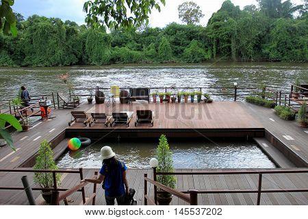 River Kwai Noi Resort for relaxing holiday Kanchanaburi Province at Thailand.