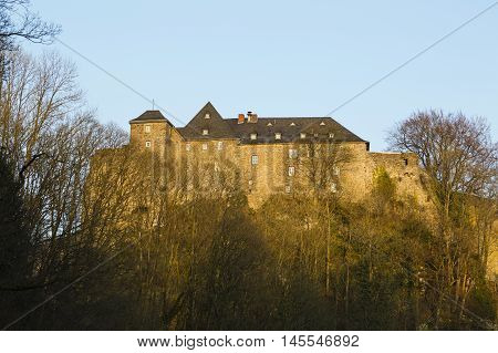 Monschau Castle In The Evening, Germany