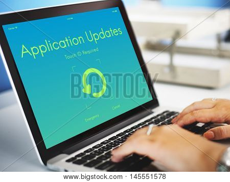 Application Updates Upgrade New Version Concept