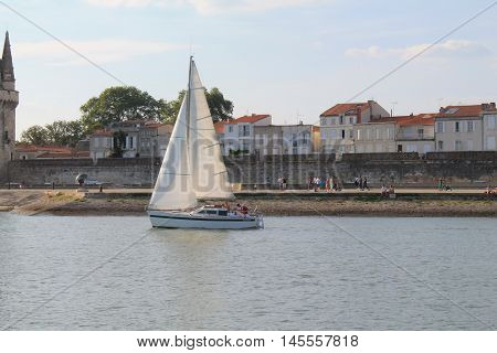 old port of la Rochelle seaport located on the Bay of Biscay, a part of the Atlantic Ocean