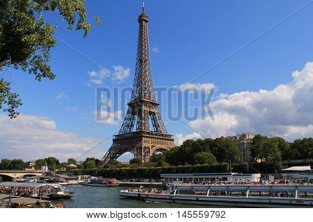 Eiffel Tower major monument in Paris capital city of France
