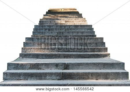 stone steps city, stairway on a white background