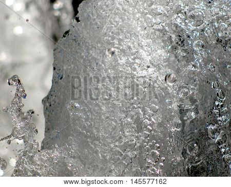 picture of a fountain bubbles water. water wall