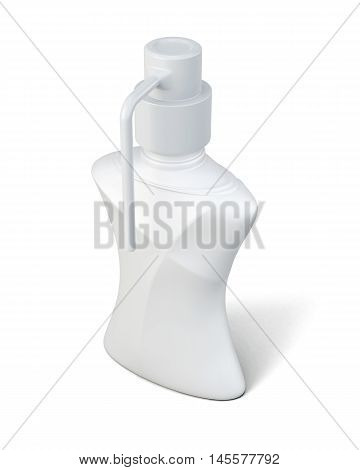 Bottle With Hand Wash. 3D.