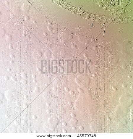 Cement Wall With A Relief Pattern In The Form Of Multi-colored Balls