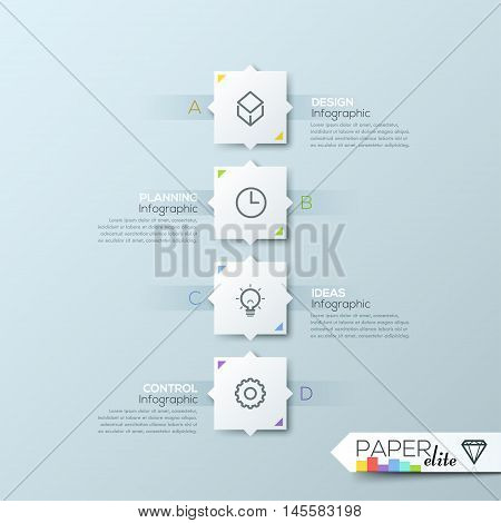 Modern clean business rectangle origami style timeline banner. Vector. can be used for workflow layout, diagram, number options, step up options, web design, infographics, timeline.