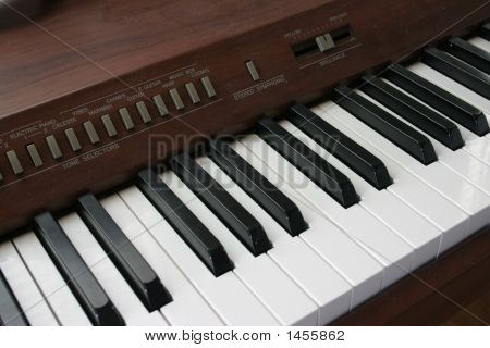 Close Up Of Digital Piano Keys