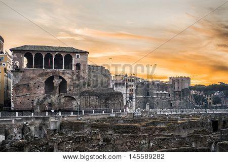 Italy, Rome - Cavalieri di Rodi's house along the via dei fori imperiali