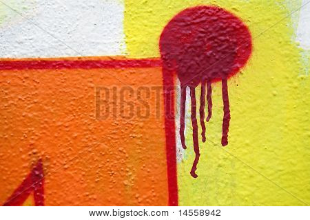 Abstract Dripping Graffiti