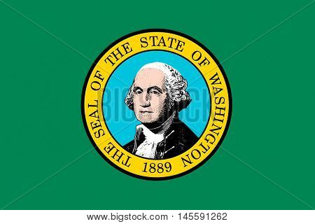 Flag of Washington is a state of United States