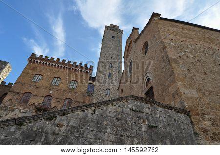 New Podesta Palace In San Gimignano