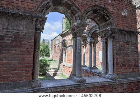 St Galgano Abbey Ruins In Chiusdino