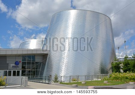 MONTREAL CANADA JULY 30 2016: The new Rio Tinto Alcan Planetarium will give visitors a chance to look back at life from a new perspective, millions of kilometres away