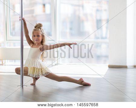 Beautiful Little Dancer In A Dance Studio