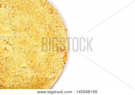 Apple Tart Studio Photo on White Background