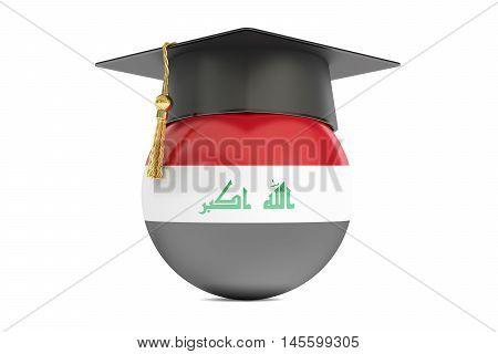education in Iraq concept 3D rendering isolated on white background