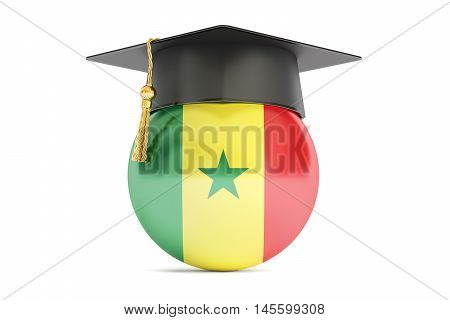 education in Senegal concept 3D rendering isolated on white background