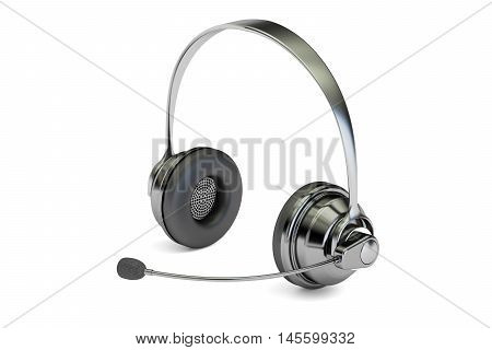 Headset 3D rendering isolated on white background