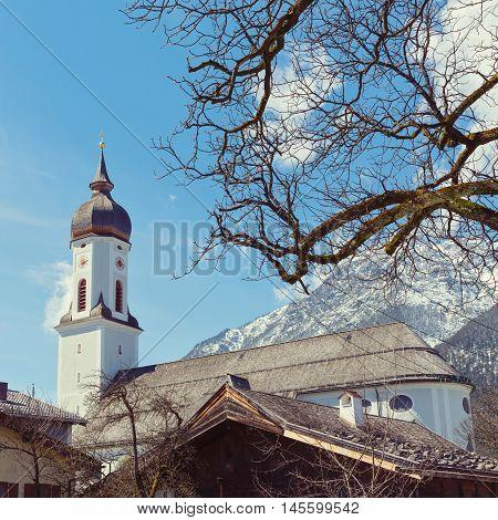 Garmisch-Partenkirchen ski resort town in Bavaria Germany