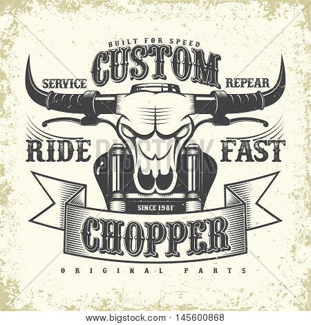 Grunge Motorcycle vintage graphics, Hot rods typography print, Biker T-shirt stamp, teeshirt graphic, vintage Motorcycle garage Emblem, grunge vintage hot rods service center emblem, vector