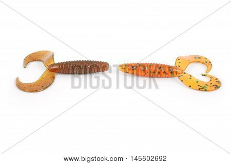 Fishing bait isolated on white background. Photo with clipping path