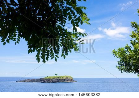 Atoll beach scenery great view at eastern of Bali Asah Hill. Located in Bugbug village Karangasem Bali.
