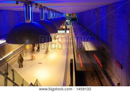 Blue Subway Station
