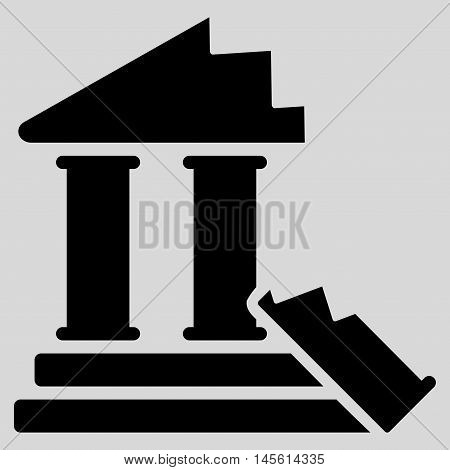 Historic Ruins icon. Vector style is flat iconic symbol, black color, light gray background.