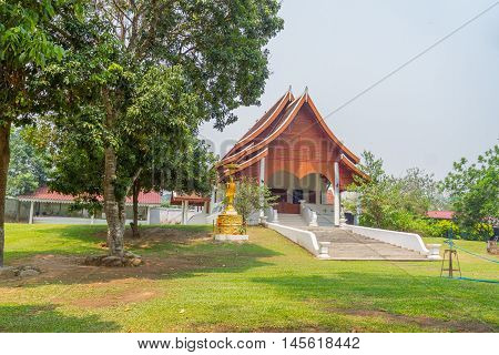 Hallof temple at Nam Hoo Temple in Pai, Thailand