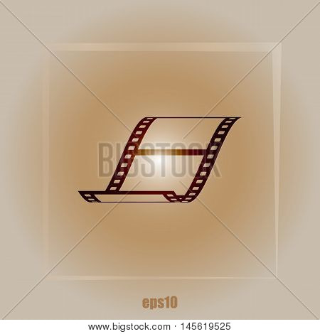Vector Blank Film Strip Icon
