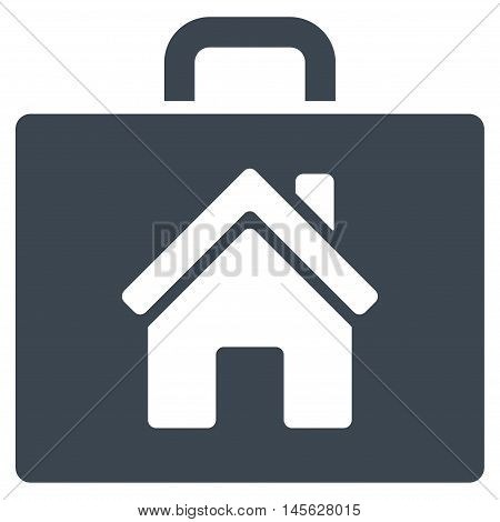 Realty Case icon. Vector style is flat iconic symbol, smooth blue color, white background.