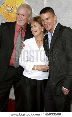 Channing Tatum and family at the Los Angeles premiere of 'Step Up' held at the Arclight Cinemas in Hollywood, USA on August 7, 2006.