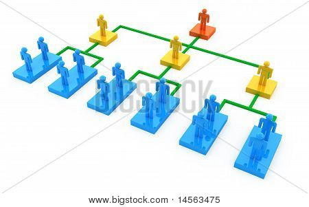 Business organization chart