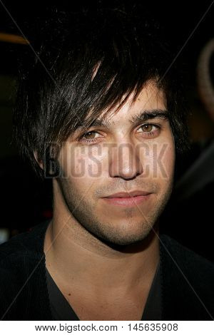 Pete Wentz at the Los Angeles premiere of 'Snakes on a Plane' held at the Grauman's Chinese Theatre in Hollywood, USA on August 17, 2006.