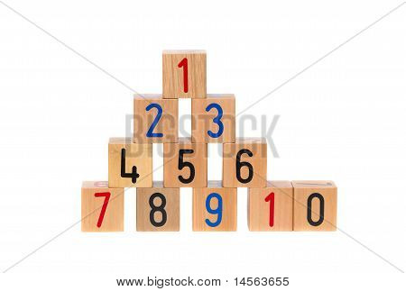 Wooden Blocks With Numbers