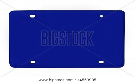 Blank License Plate Blue