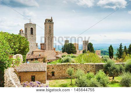 Beautiful View Of San Gimignano, Italy
