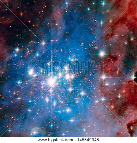 Star Cluster Trumpler 14. One Of The Bright Stars In Milky Way.